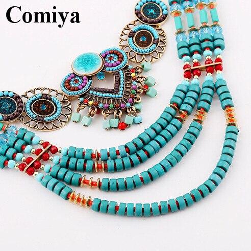 Bohemia moda diseñado mezclan colores de la resina collares hechos a mano  para para étnico accesorios collar llamativo venta al por mayor en Collares
