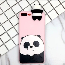 3D Case For Xiaomi Redmi 4X Cute Cartoon We Bare Bears brothers toys soft TPU Silicon phone case Cover