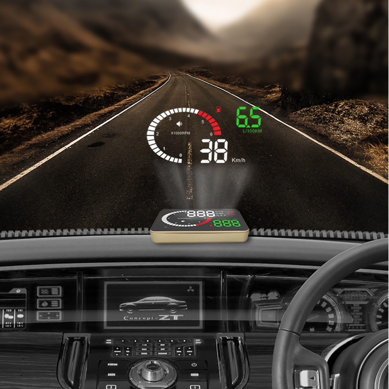 YASOKRO X6 Auto HUD Head Up Display OBD Car Speedometer OBD2 Speedo Over Speed Voltage Alarm Windshield Projector OBDii Plug