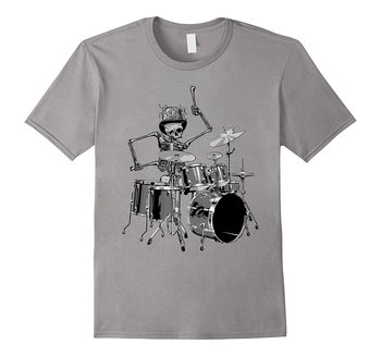 SKELETON DRUMMER - Live Music - Band - Funny - T-shirt Fashion Brand Clothing Cute T Shirts Comfortable White Style Top Tee