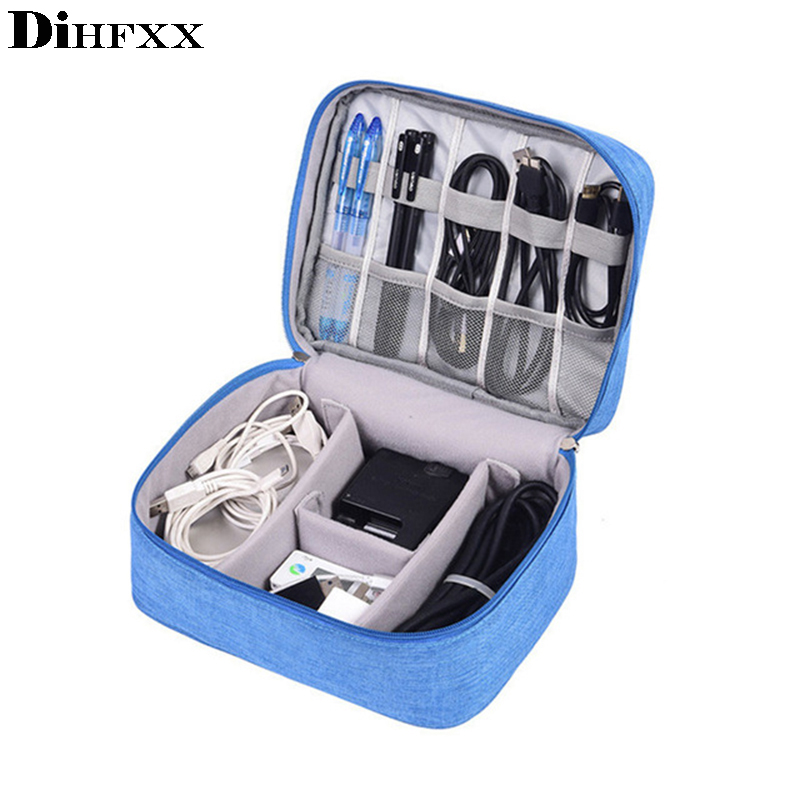 DIHFXX Travel Accessories Bags Date Cable Digital Finishing Bag Data Charger Wire Bag Mp3 Earphones Usb Flash Drive Bag Viaje
