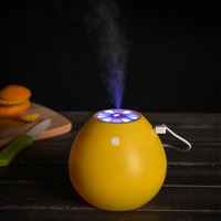 400ML Ultrasonic Air Humidifier With LED Light Creative Grapefruit Shape Mini USB Essential Oil Diffuser Anion