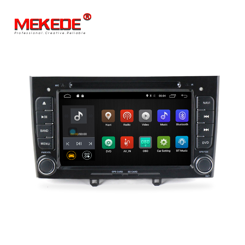 MEKEDE 1024 600 screen 4G LTE 2din Car DVD Player for Peugeot 408 308 Android 7