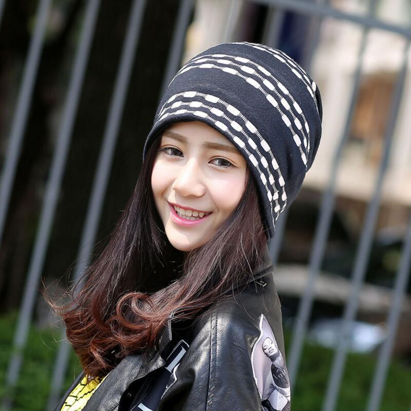 Women 2 Use Cap Hat Skullies Beanies Thin Bonnet Cap Spring Autumn Casual Women Beanies Hat For Men Hip-hop Hat Male Cap Female women cap skullies