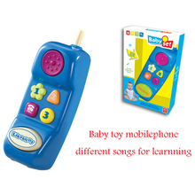 Educational Baby Mobile Phone With Many Songs Electronic Toys Phone Christmas Baby Gift
