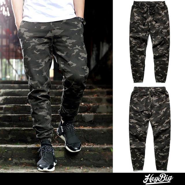 5c381fa56ee mens joggers 2015 New skinny men pants camouflage hip hop jogger pants  military camo harem pants