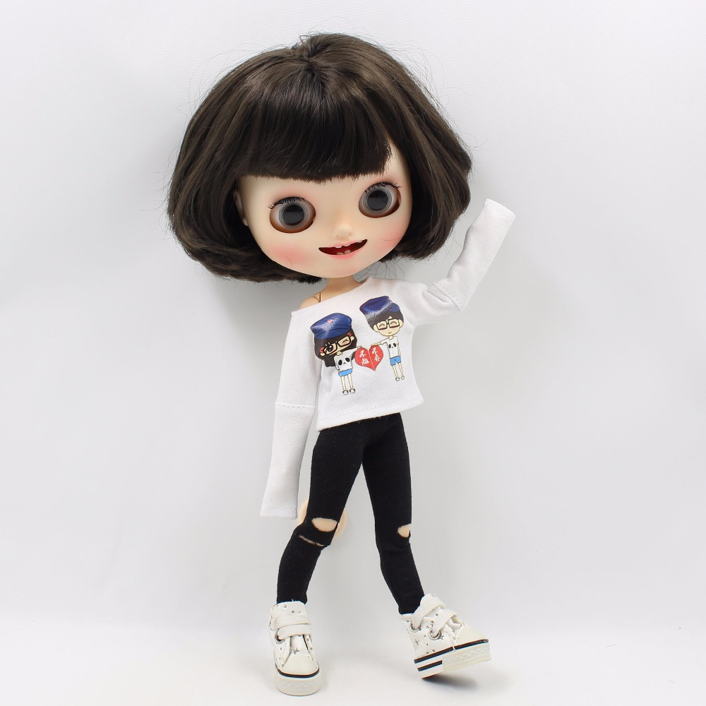 Neo Blythe Doll White Shirt with Black Pants 3