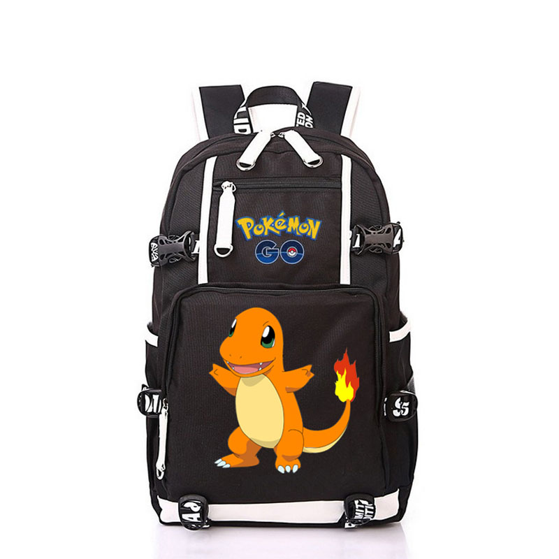 Women Men Anime Pocket Monster Gengar Charmander Backpack Rucksack Mochila Schoolbag Bag For School Boys Girls Student Travel anime cartoon tokyo ghoul cosplay backpack schoolbag one piece gintama school bag rucksack men s women s naruto travel bag