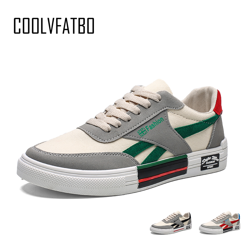 COOLVFATBO Men's Vulcanize Shoes Women Fashion Canvas Shoes Lace-up Casual Men Flats Shoes Male Sneakers Zapatos Hombre
