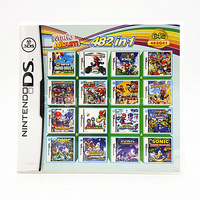 Nintendo NDS Game 482 In 1 Compilations 482G01 Video Game Cartridge Console Card English Language With