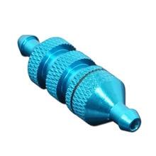 Bleu bleu 02156 filtre à carburant en aluminium pour pièces de rechange de bateau de camion de voiture de modèle de 1/10 HSP RC