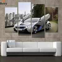 Fashion Sport Car Canvas Prints Painting Decoration for bed room 4 Pcsr Wall Art Picture Living Room Canvas Painting