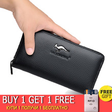 Luxury Genuine Leather Men's wallet fashion Business Multifunction Long Men Wallet Clutch Male Coin Purse Money Bags Card Holder