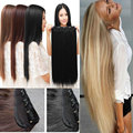 "Free Shipping 26"" 66 cm Straight Clip in Hair Extensions One Piece 5Clips Straight 10 colors 100% Real Good"