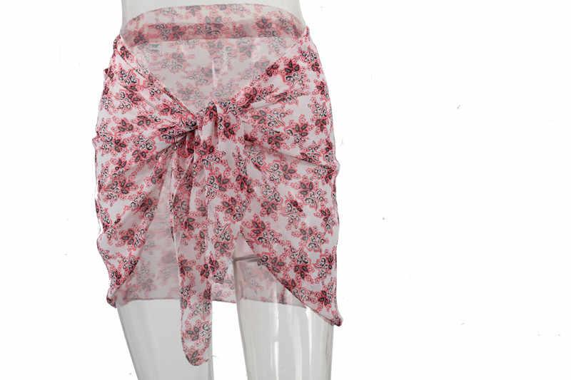 Sexy Lady Beach Bikini Cover Up Solid Pareo Chiffon Wrap Rok Sarong Sjaal Beachwear Badpak Beachwear Badpak