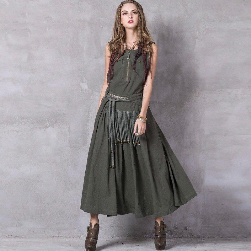 New Autumn embroidery fashionable dresses cotton dress vintage long fringe dress vestidos online shop clothing elbise ukraine