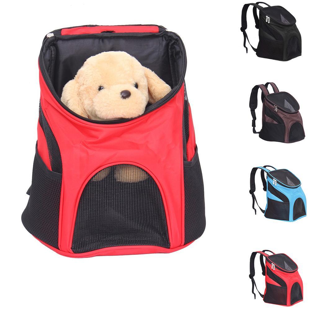 Pet Dog Carrier Backpack Bag Pet Outdoor Cat Carrier Bagpack Portable Zipper Mesh Backpack Breathable Dog Bag Supplies
