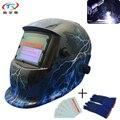Синяя световая Солнечная сварочная маска для сварки Tig Mig Arc защита EN379 с фильтром TRQ-2233FF  литиевая батарея  шлем для наружного управления