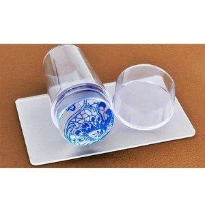 Image 1 - Rascador de uñas de silicona con tapa transparente 3cm herramienta de estampado de uñas