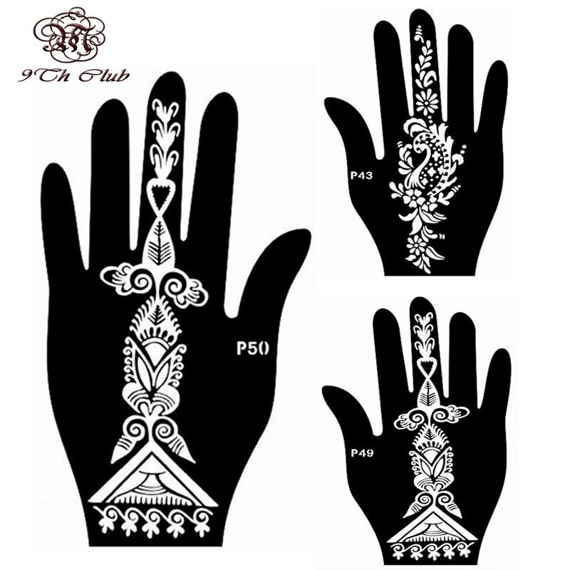 4pcs facile femmes pochoir de tatouage au henné, pochoir - Tatouages et art corporel - Photo 2