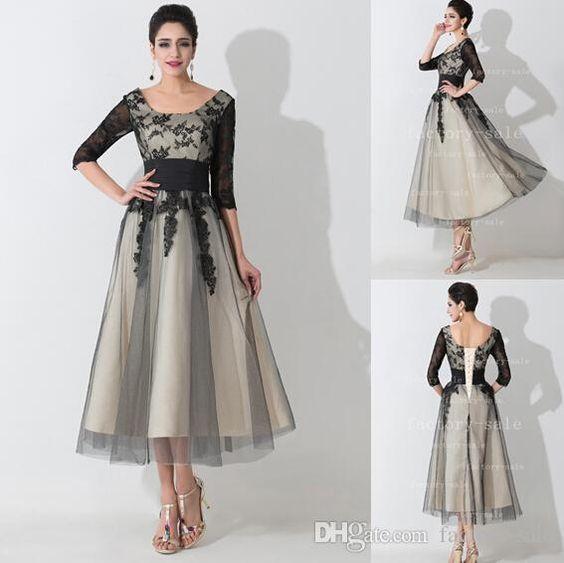 f8fdbb21af new fashion short Mother of Bride Dresses 2017 scoop half sleeves mother  evening dress Groom Mother Dress Vestido mae da Noiva