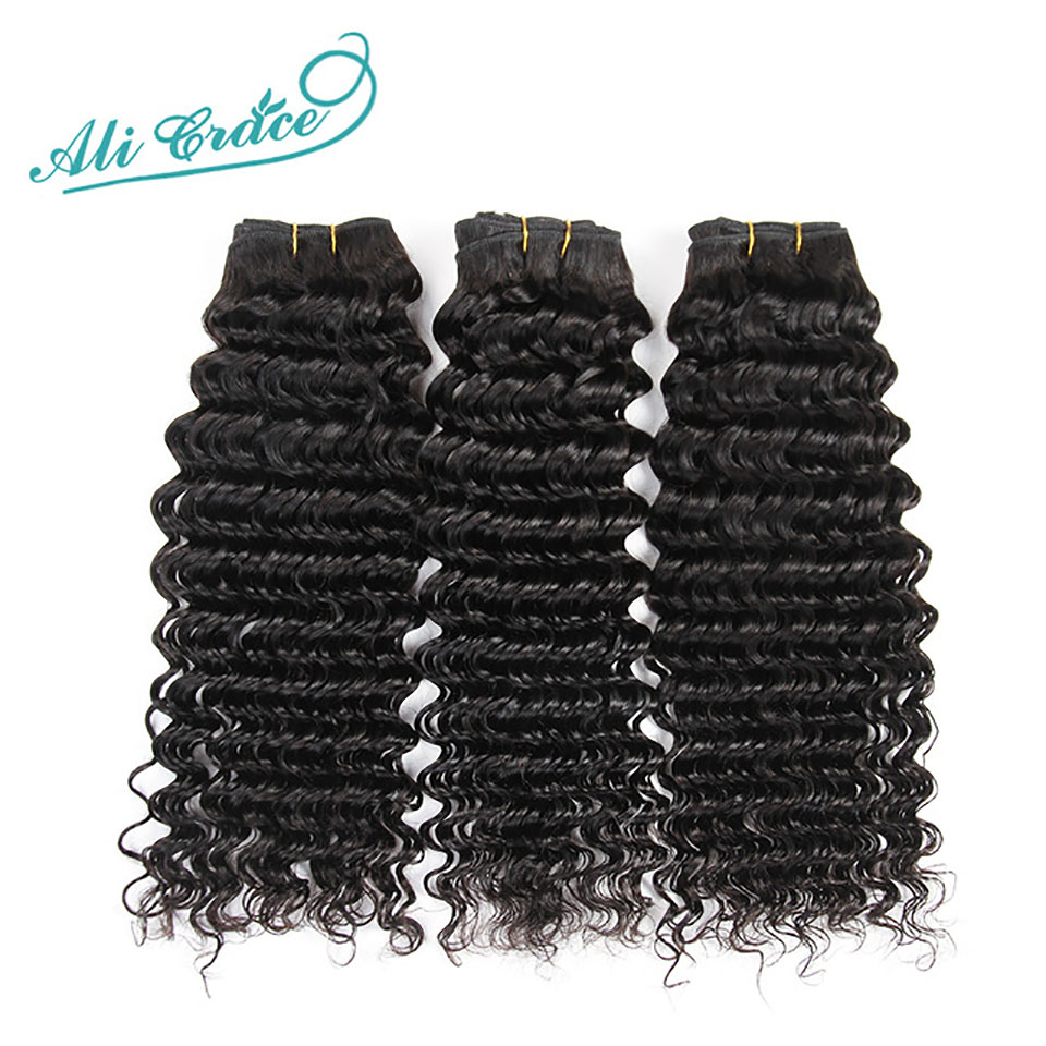 Ali Grace Hair Brazilian Deep Wave 3 Bundle Deals 100 Brazilian Remy Hair 10 28 Inch