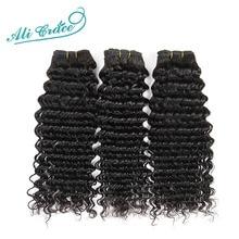 アリグレース髪ブラジルディープウェーブ 3 束 100% ブラジルの Remy 毛 10 28 インチディープカーリーウェーブブラジル人毛