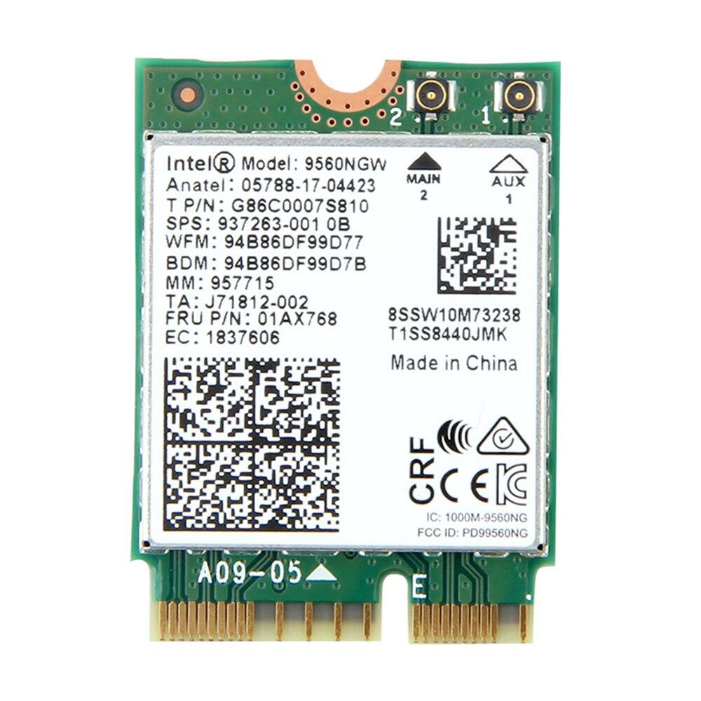 Double Bande 1.73 Gbps Sans Fil Pour Intel AC 9560 9560NGW NGFF Clé E Wifi Carte 9560AC 8020.11ac Bluetooth 5.0 Ordinateur Portable pour Windows 10