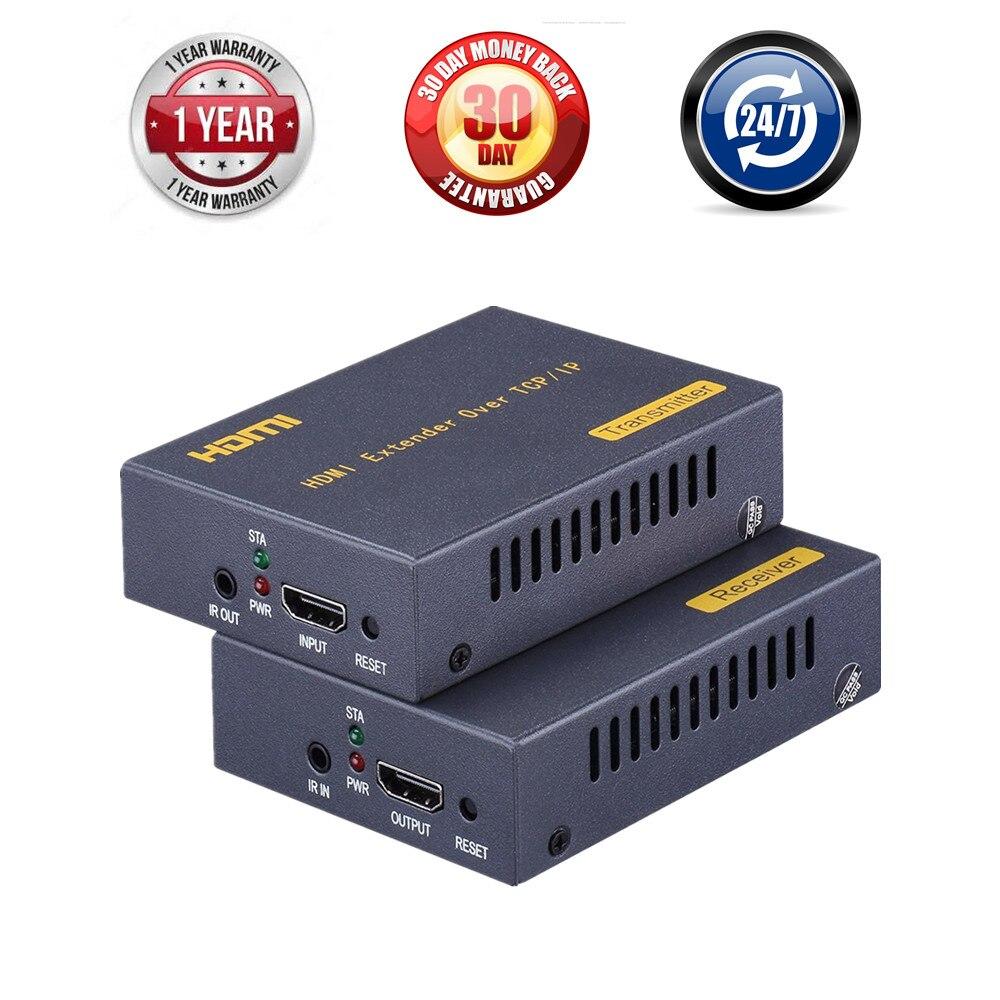 ZY-DT103A HDMI Extender Over IP/TCP UTP/STP CAT5 CAT5e CAT6 Extensor HDMI IR Rj45 LAN Network Support 1080P 150m Extension HDMI hdmi extender rj45