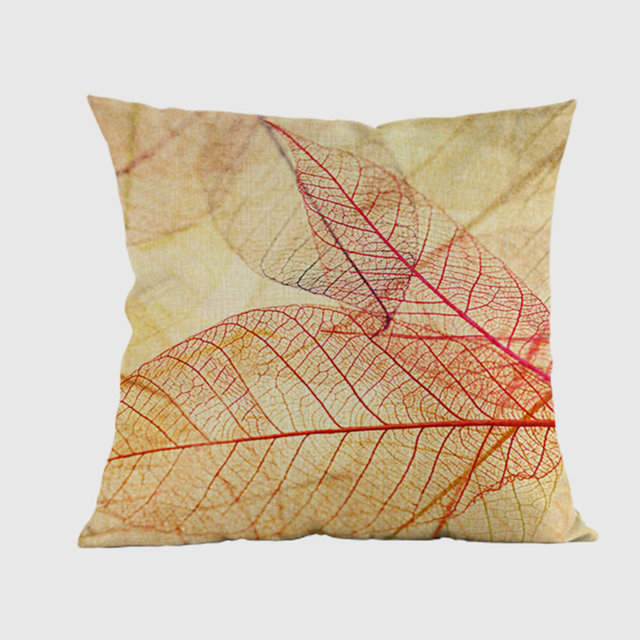 Online Shop Canada Maple Leaf Plant Cushion Cover Yellow Autumn Stunning Decorative Throw Pillows Canada