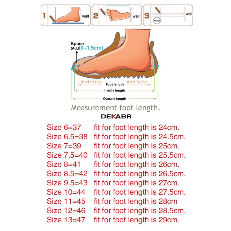 DEKABR New Genuine Leather Men Shoes Men's Flats, Design Style Shoes Men Fashion Soft Moccasins Casual Shoes Big Size 37~47