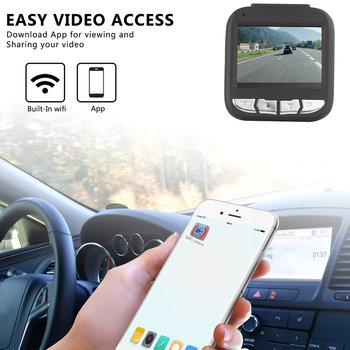2.4 inch 500M Pixels 127 Degree Wide Angle Car Camera Driving Video Recorder Smooth Recording with Car Charger