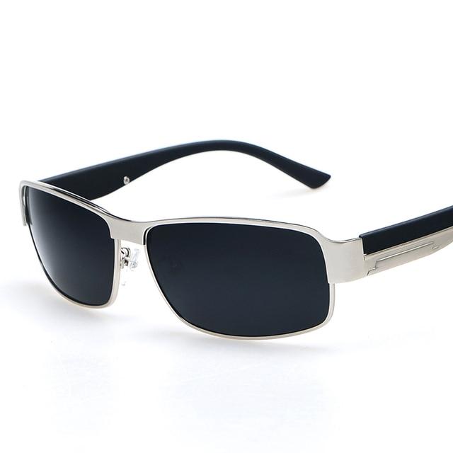 Pria Kacamata Hitam Klasik Kacamata Terpolarisasi Mengemudi Kacamata Hitam  Logam Desainer Kacamata Resep Kacamata Kotak Besar bb5786ba8f