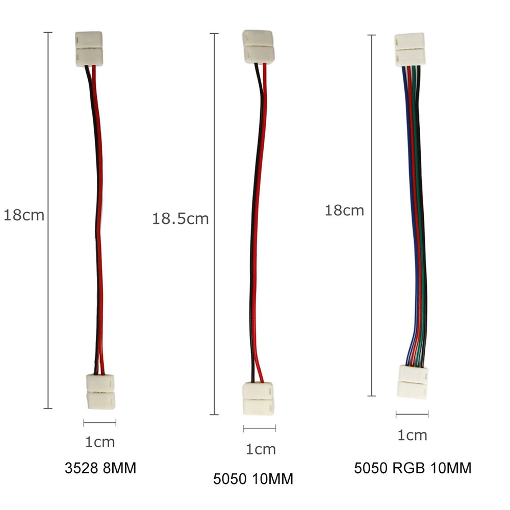 Led Strips Rgb Wiring Diagram Buy 1pcs Rgbw Ws2811 2812 Strip Connector Solderless Pcb To Cable Adapter Wire For 5050 5630 Light From