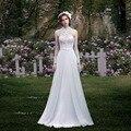 New Elegante Tulle Lace Apliques Vestido de Casamento Da Praia vestido de noiva vestido de Noiva Robe De Mariage vestidos de casamento vestidos de casamento