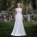 Nueva Elegante Apliques de Encaje de Tul Playa Vestido de Novia vestido de noiva Vestido Nupcial De Robe De Mariage casamento vestidos de novia