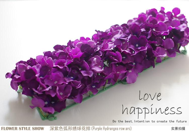Künstliche Hydragea Blumengirlanden 10 Stücke 50 * 20 cm - Partyartikel und Dekoration - Foto 5