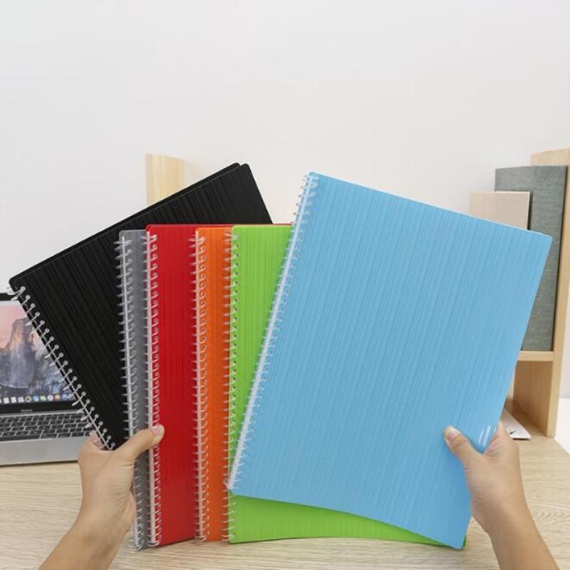 New 20/40 Pages Coil Booklet 36-hole A4 Transparent Loose-leaf Bag Office Student Information Folder Plastic Folder