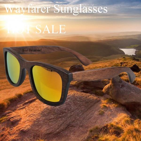 Venda quente 2017 nova moda artesanal de bambu óculos de sol das mulheres óculos  óculos de madeira óculos de sol dos homens polarizados cr39 55d0dfc7af