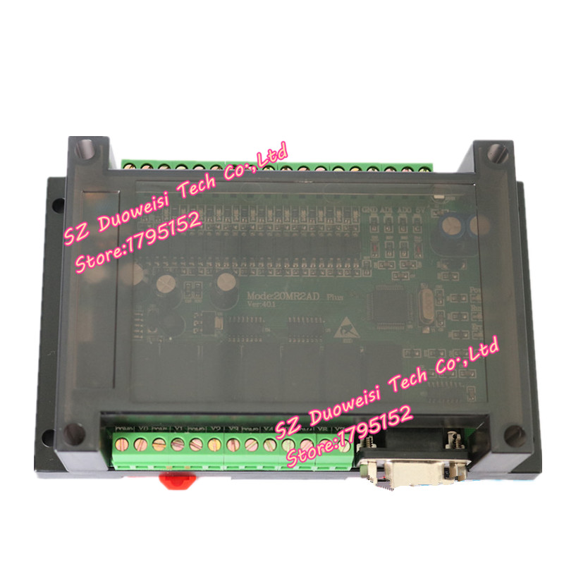 PLC industrial control board FX1N FX2N 20MR 2AD analog direct download can be even touch screen text FX1N-20MR FX2N-20MR
