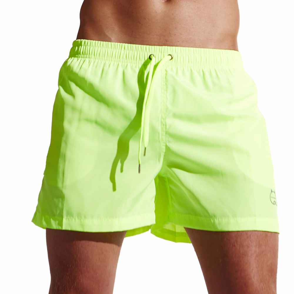 Men's solid color casual sports shorts swim trunks quick-drying beach surf running workout pants loose breathable outdoor pants