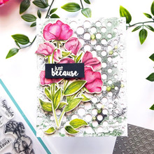 YaMinSanNiO Flower Stamp with Dies Scrapbooking Leaves Metal Cutting Clear for Card Making Decor Album New 2019