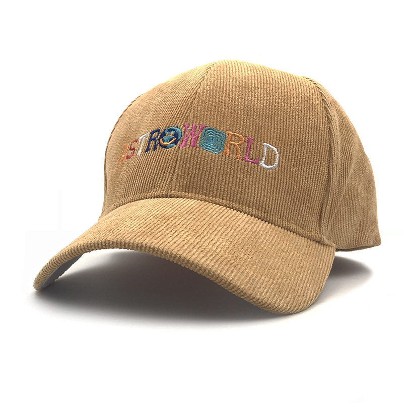 Dad Hat Travis Scotts Latest Album Astroworld   Cap   100% corduroy Embroidery women men   Baseball     Caps   Dropshipping Bone Garros