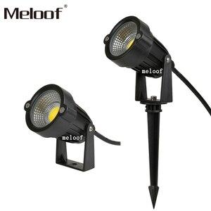 Image 2 - 새로운 스타일 COB 정원 잔디 램프 빛 220V 110V 12V 야외 LED 스파이크 빛 3W 5W 경로 풍경 방수 자리 전구