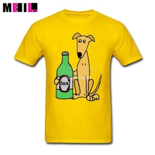 "Cool ""Greyhound Dog with Large Beer"" t-shirt"