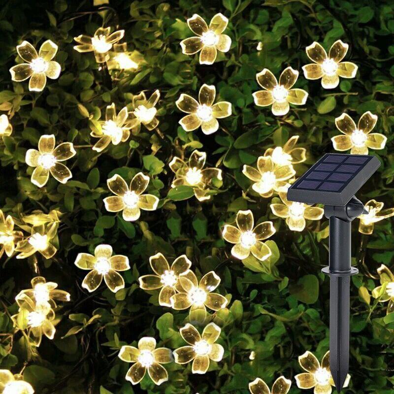 Litwod Z20 Solar Lamps Built in battery Outdoor lighting 50 Beads 7 Meters String LED Light Decor Fairy Icicle Lighting String