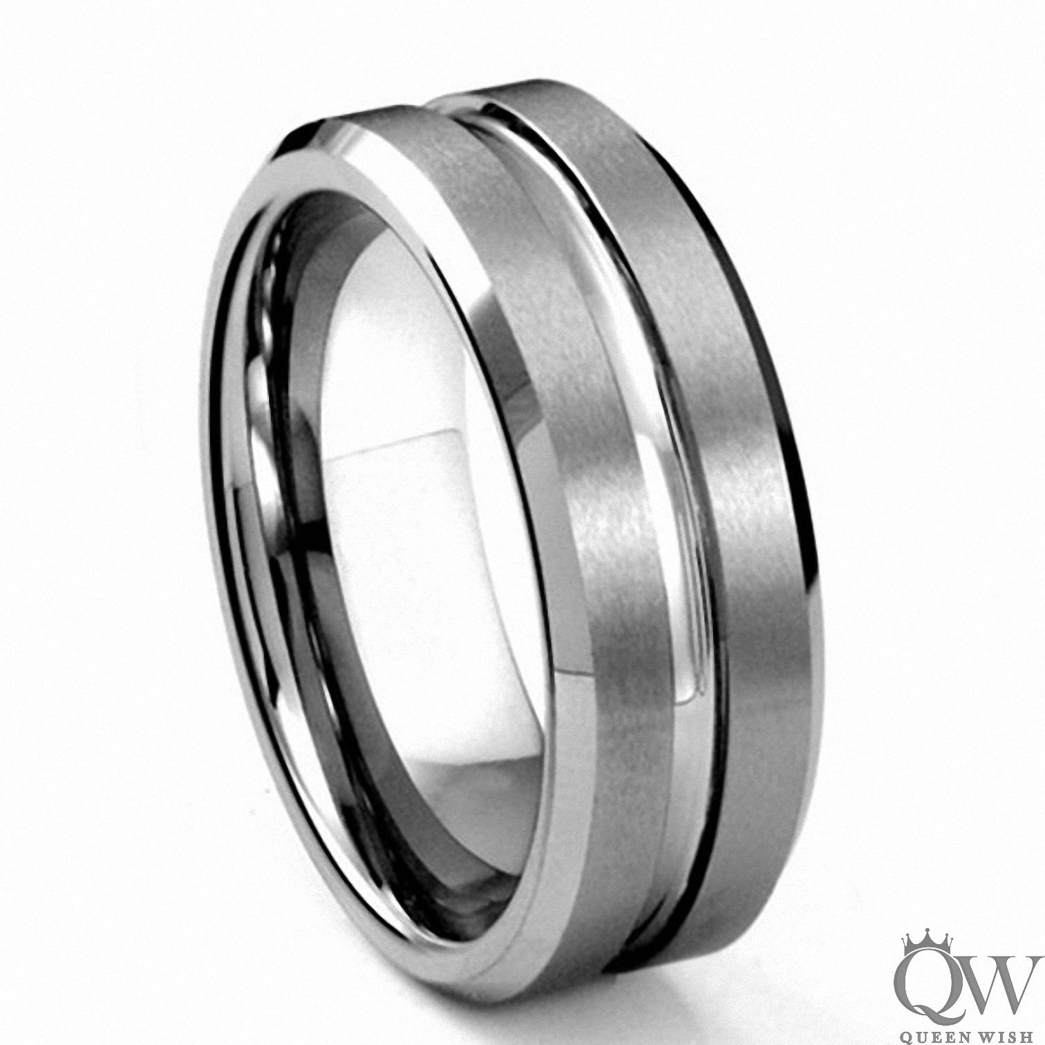 for coolmanjeweller inlaied engagement men customized logo rings carbon coolman fiber tungsten black with wedding band carbide ring s