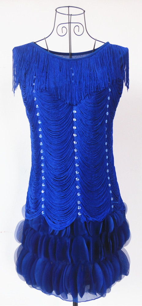 Dress 3d flower with diamond elegant flapper beaded dress 6052 china