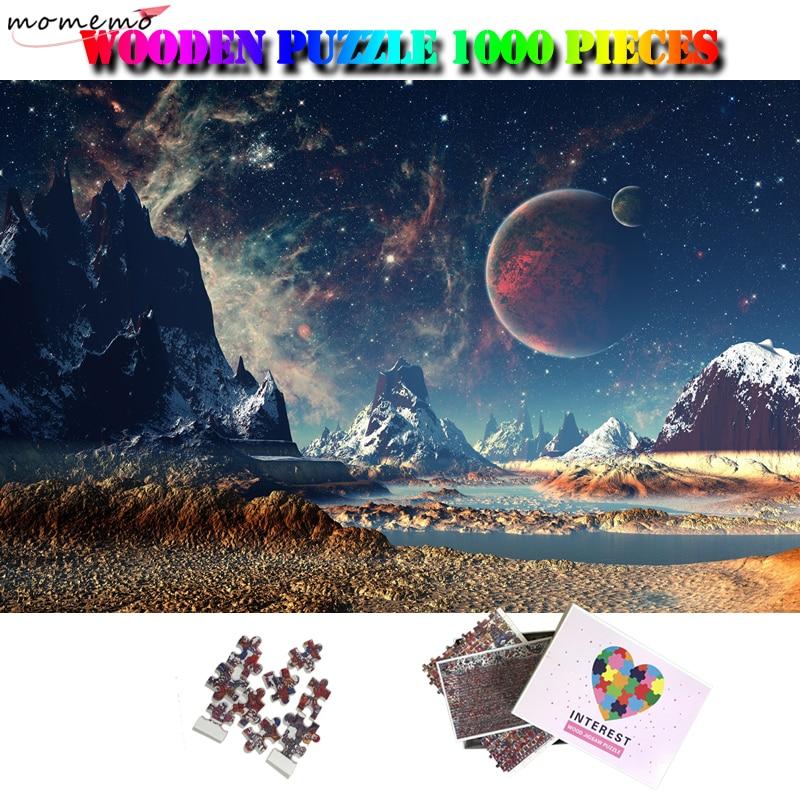 MOMEMO ciel étoilé en bois adultes Puzzle 1000 pièces fantastique paysage Puzzle éducatif en bois jouets pour enfants jeux cadeau