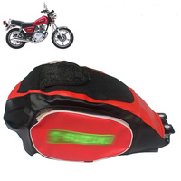motorcycle water proof GN125 GN250 gas fuel tank cover with side bag( install tool bag) for Suzuki 125cc 250cc GN 125 250 parts